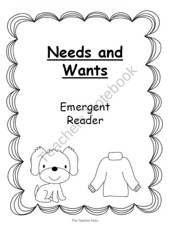 Needs and Wants- Emergent Reader product from The-Teacher