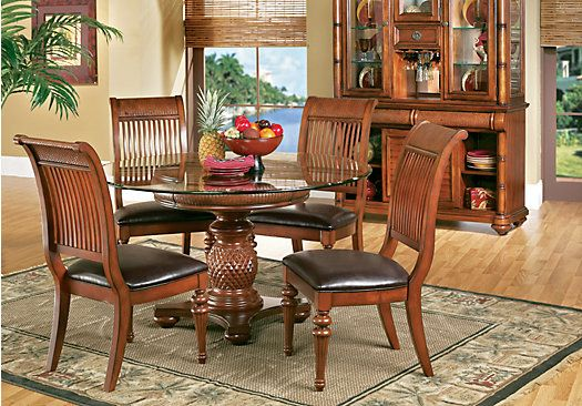 picture of Cindy Crawford Home Key West Tobacco 5 Pc Round Dining