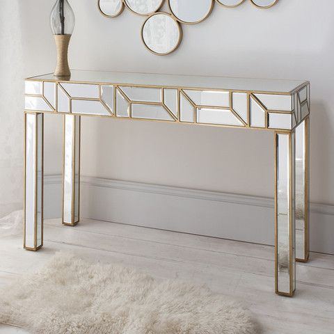 Luxury Gold Hall Table
