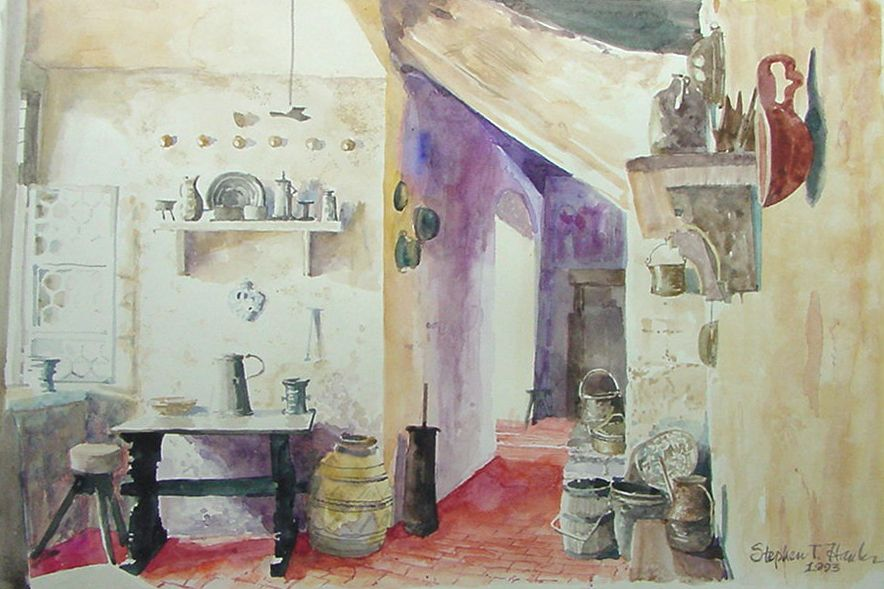 Kitchen Watercolor With Images Artist Studio Dutch Kitchen Art