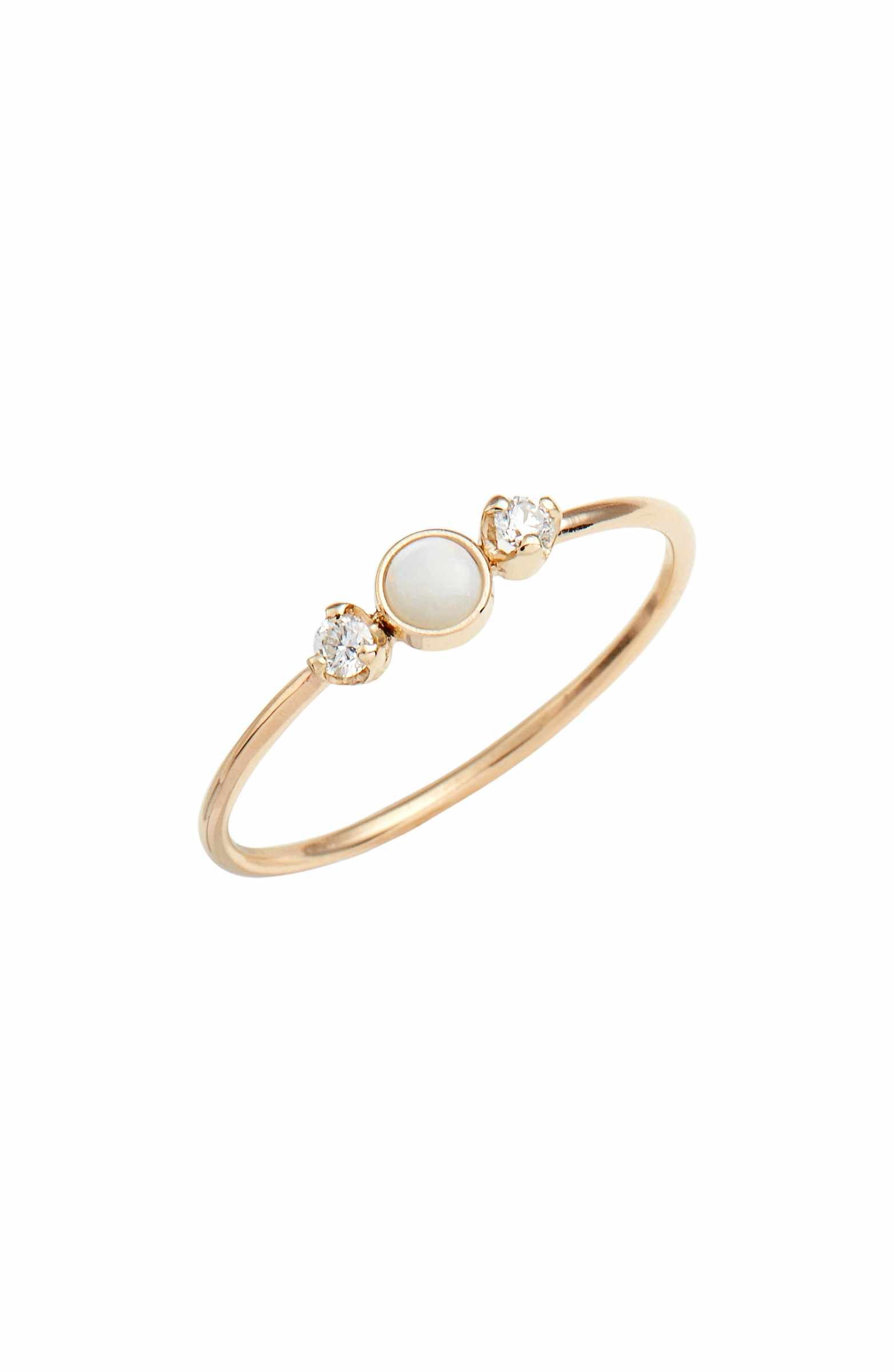Main Image Zo Chicco Diamond & Opal Cluster Ring Nordstrom
