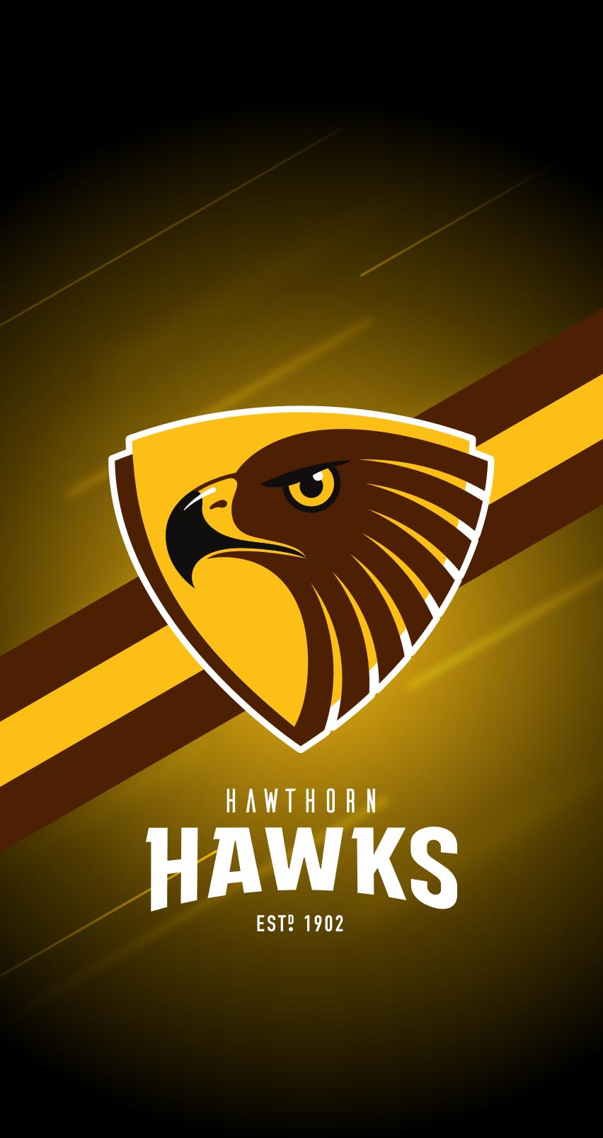 Hawthorn Hawks Iphone 6 7 8 Lock Screen Wallpaper In 2020 Hawthorn Hawks Lock Screen Wallpaper Screen Wallpaper