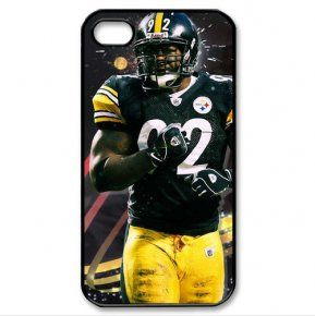 NFL theme hard case Steelers team logo James Harrison portrait image back shell