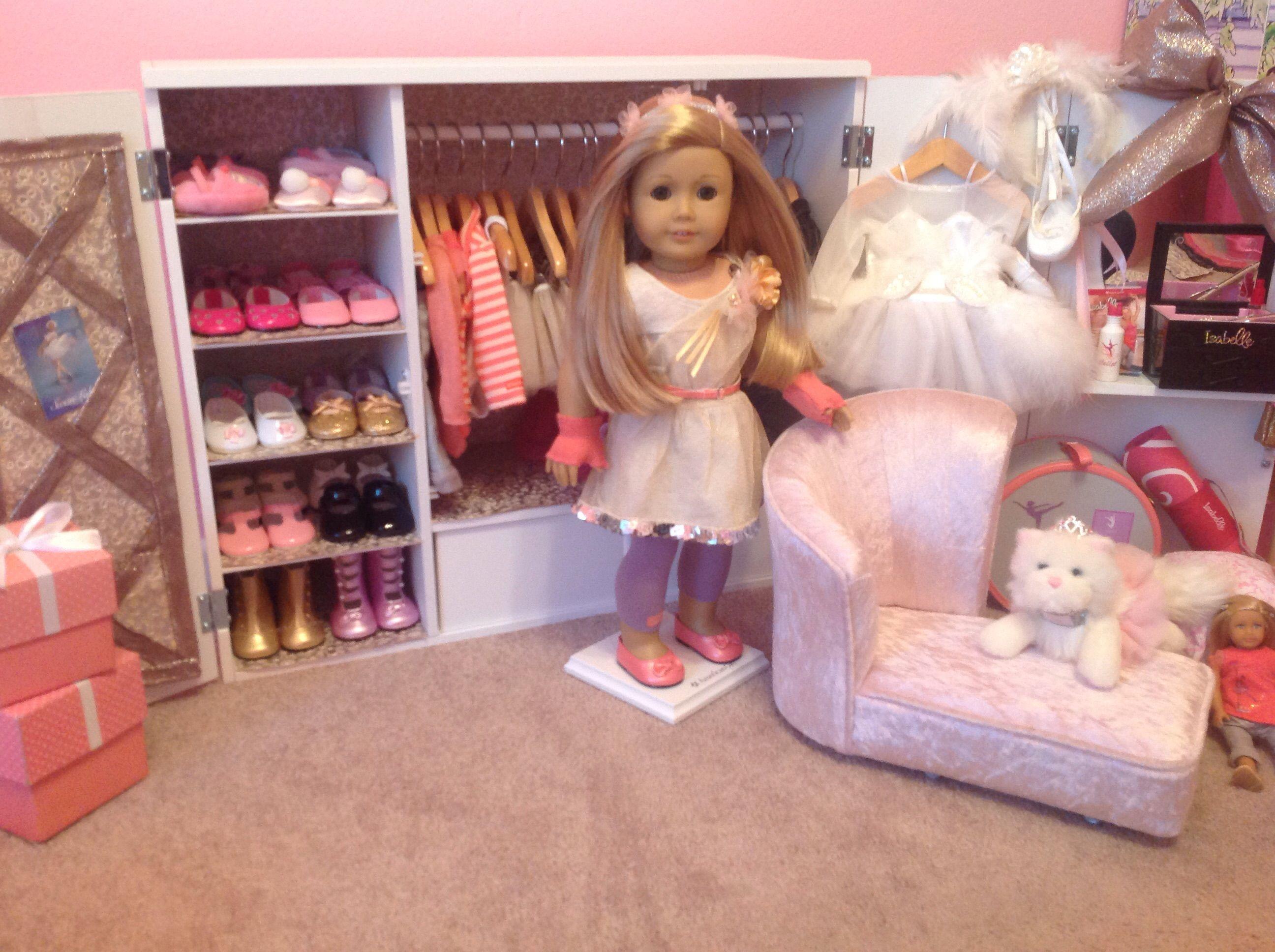 DIY American Girl Isabelle Wardrobe Our Generation Wardrobe Wooden