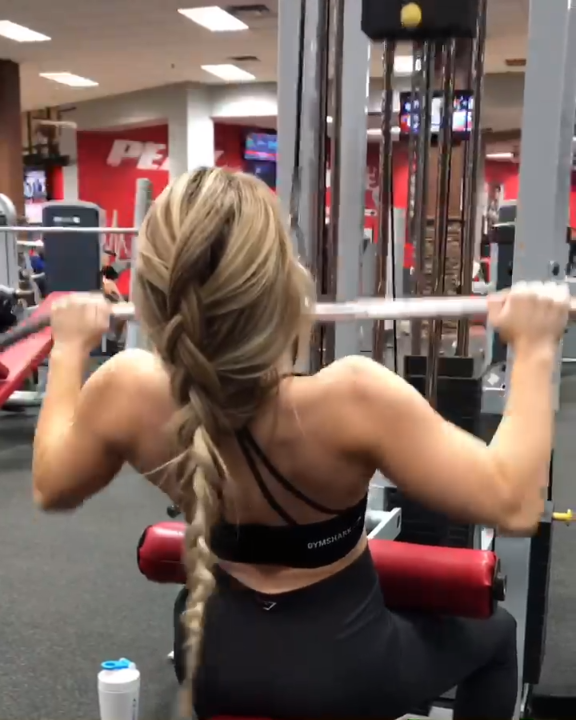 Try These Pulldowns For A Burning Back Workout With Brittany Lupton Gymshark Workout Target Fitness Gym Exercise Video Exercise Fitness Body Workout Challenge