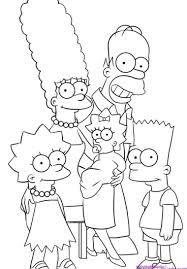 Simpson Per Pintar Cerca Amb Google Dibujos De Los Simpson