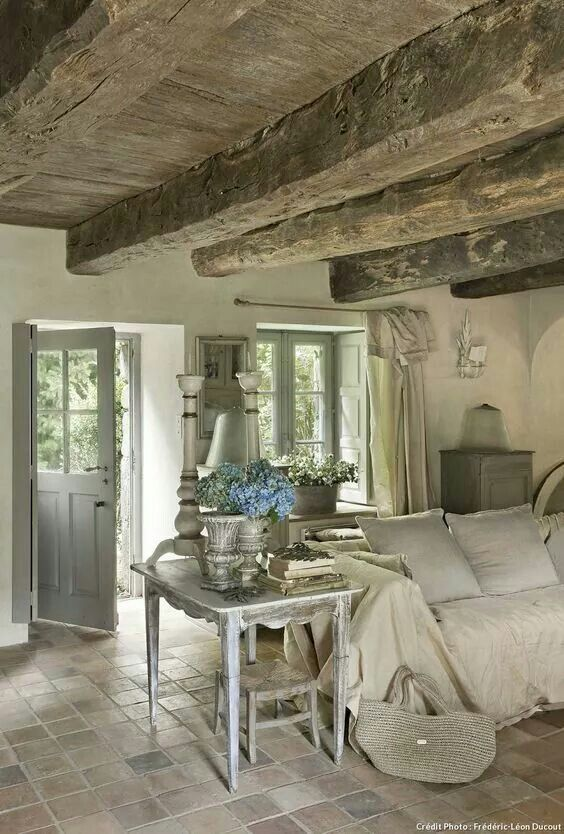 The Speck Of Blue French Country House Country Living Room
