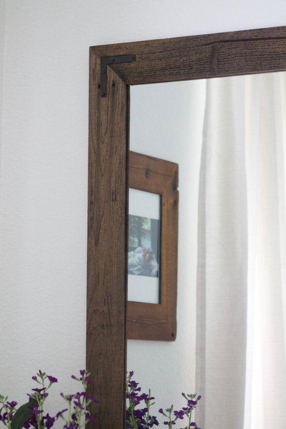 1f8434ebf01e Rustic Wall Mirror - Large Wall Mirror - 30 x 36 Vanity Mirror - Bathroom  Mirror - Rustic Mirror - Reclaimed Wood Mirror - Bathroom Vanity