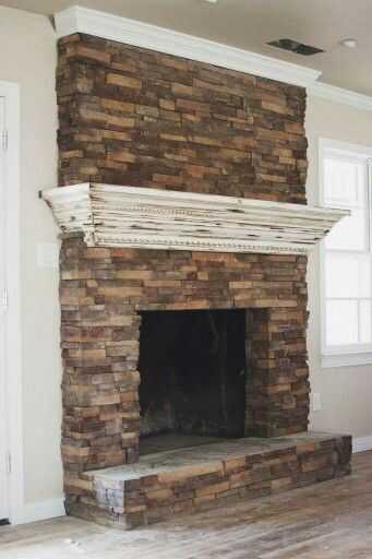 Elegant Mantle for Brick Fireplace