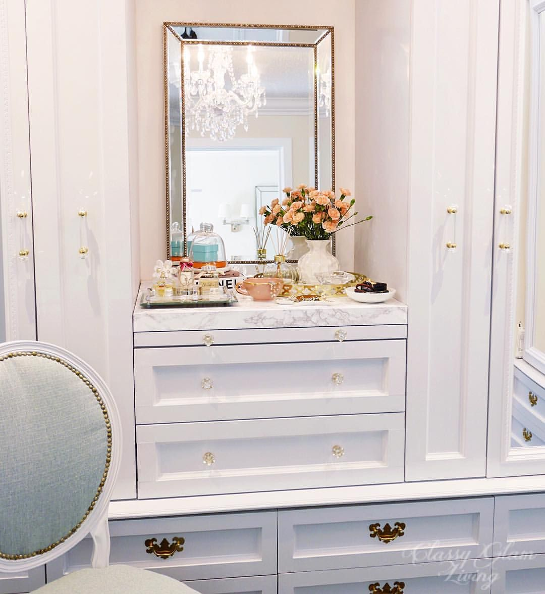Dressing Room Walk In Closet Vanity Styling French Chair