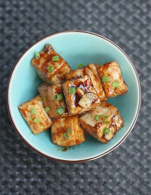 Tofu In Garlic Sauce The Peach Kitchen Recipe Recipes Food Cooking Recipes
