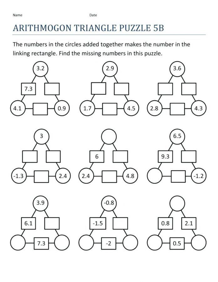 3rd Grade Math Worksheets Math Puzzles 3rd Grade