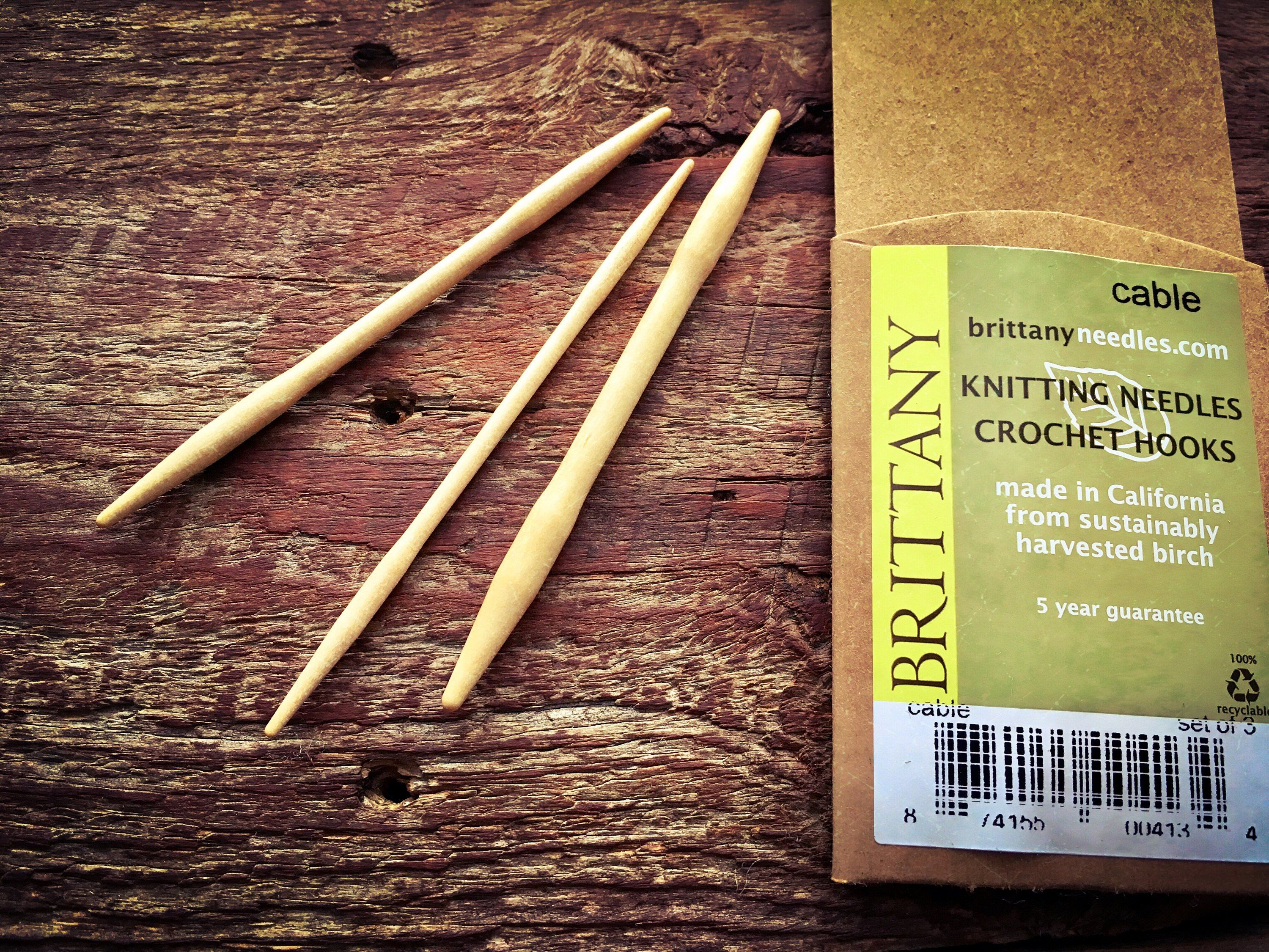 Brittany Wooden Cable Needles For Knitting Cables Forever Winding