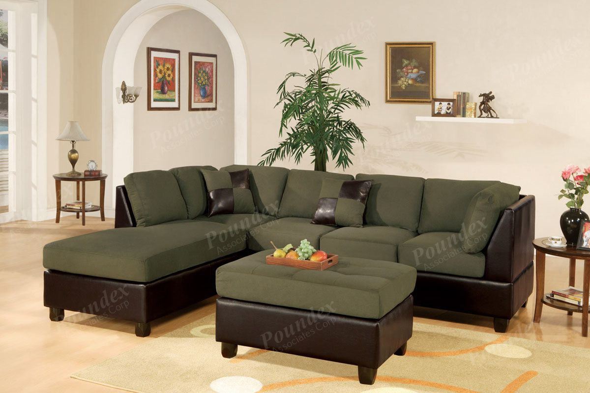 Poundex SECTIONAL COUCH SECTIONAL SOFA LIVING ROOM SECTIONAL 3 Pc