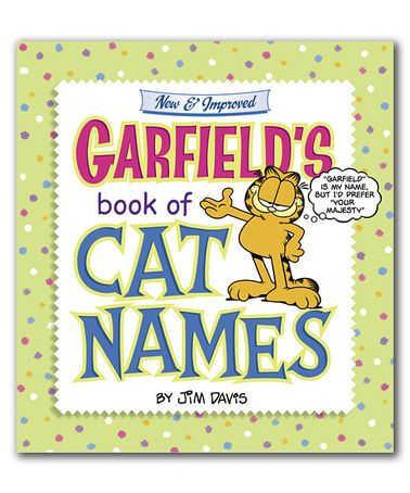 garfield s book of cat names paperback by random house zulily zulilyfinds