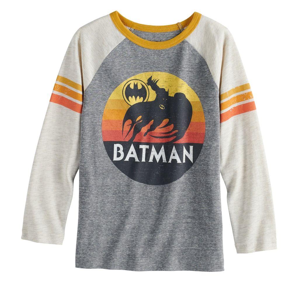 2b5b83785e3 Boys 4-12 Jumping Beans® Retro DC Comics Batman Raglan Graphic Tee ...