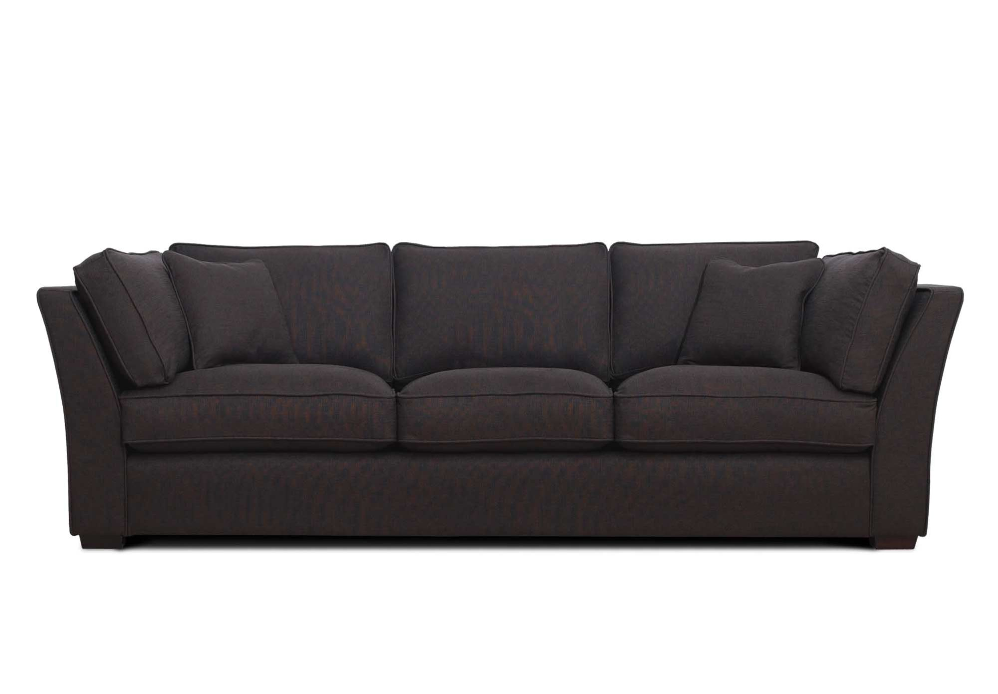 Sofa Couch with Pillow Padded Arms in Chocolate Microfiber