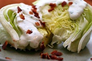 Iceberg Wedge Salad with delicious home made Buttermilk-Bleu Cheese Dressing