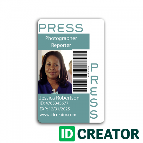 Press Pass Vert 3 Id Card Template Employee Id Card Fear Of Flying