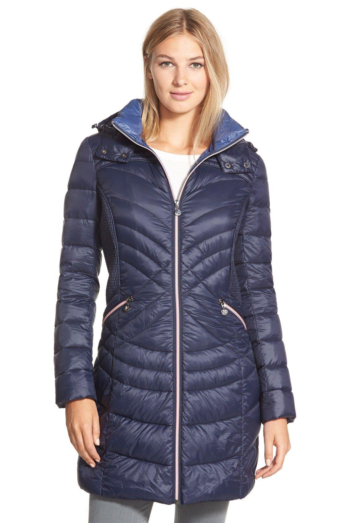 Bernardo Hooded Down Primaloft Fill Coat Regular Petite Nordstrom Nordstrom Coats Coats For Women Quilted Outerwear [ 1687 x 1100 Pixel ]
