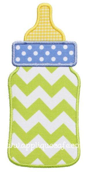 Baby Bottle Applique Design Clip Art Pinterest