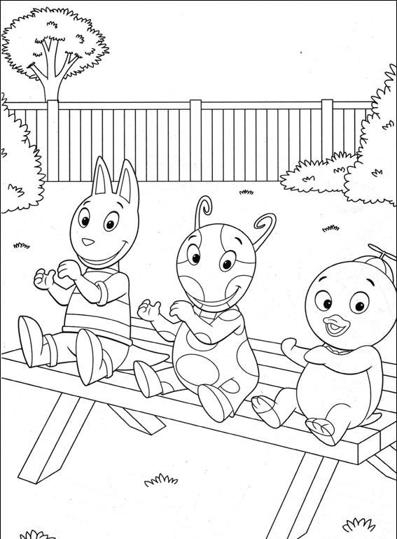 Free Printable Backyardigans Coloring Pages For Kids Coloring