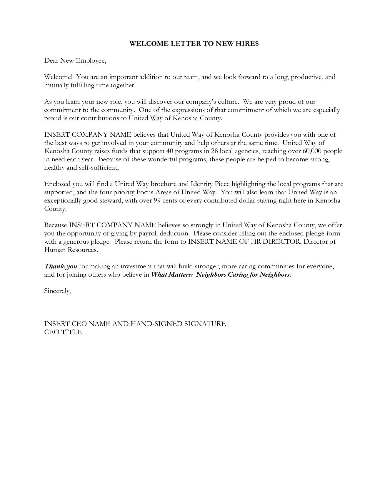 50 Letter to New Employee Vw6i Check more at https