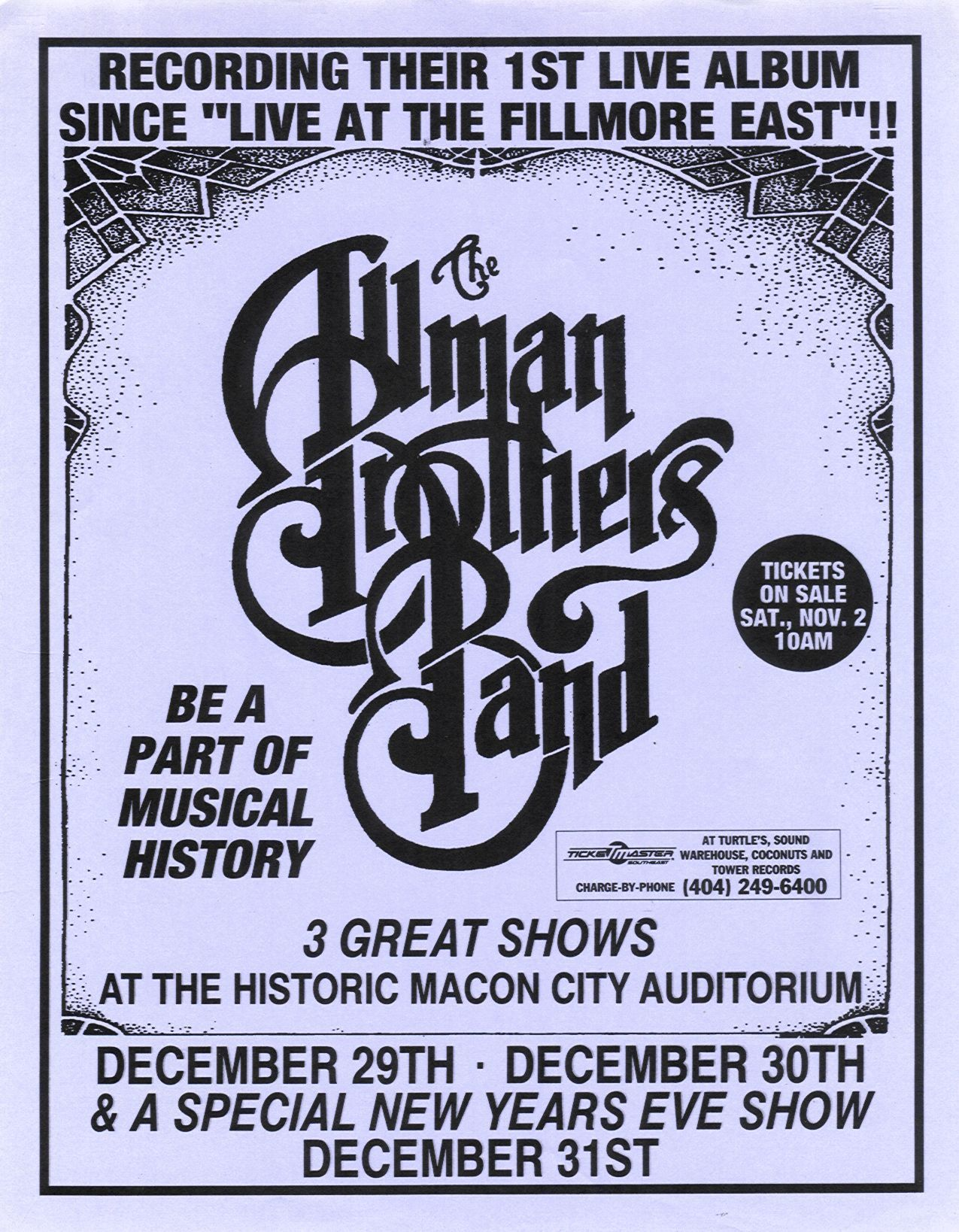 allman brothers band poster carteles
