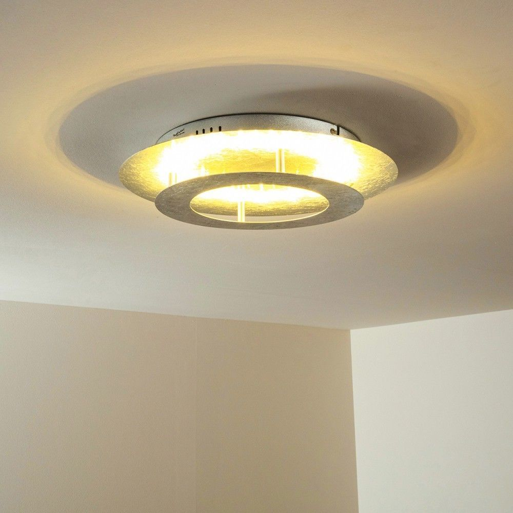 Plafonnier LED Design Lustre Lampe de cuisine argentée Lampe de