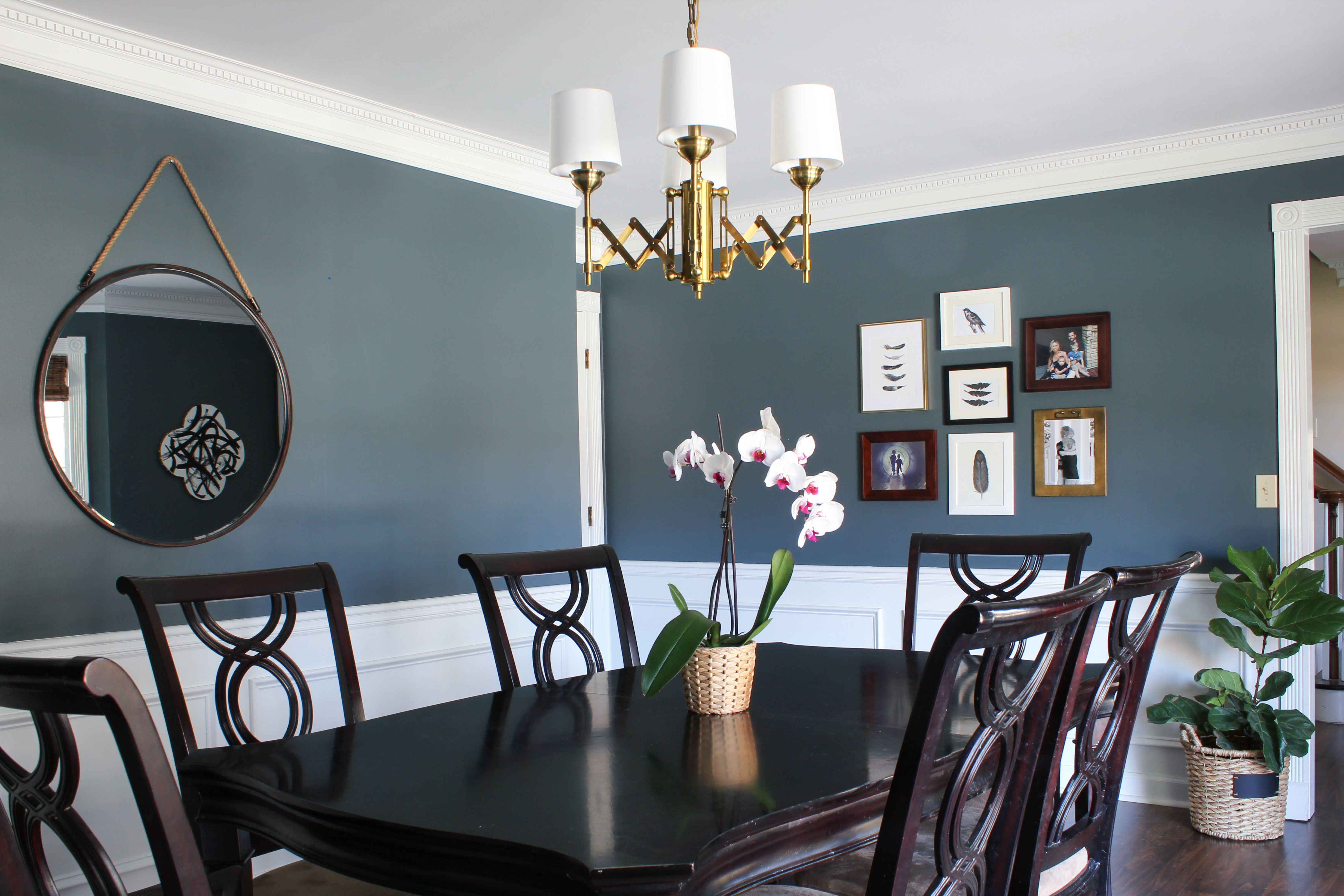 BM Nocturnal Gray Dining Room Colors, Dining Rooms, Dining Table, Makeover  Tips,