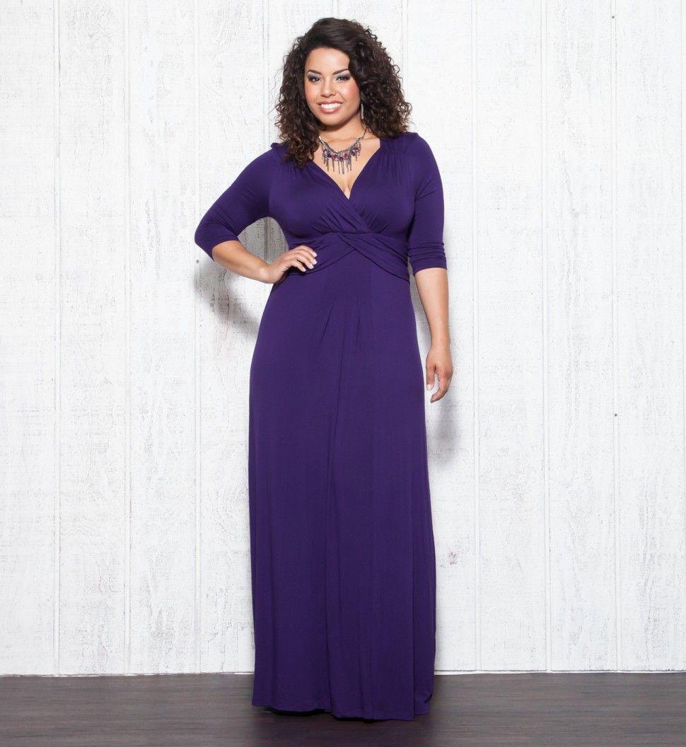 Desert rain dressy casual long maxi dress purple womens plus size