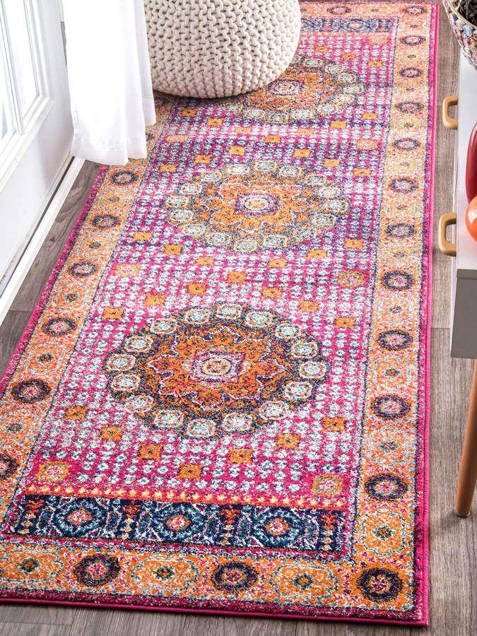 nuLOOM Les Runner #ad | Boho Style Living Room Inspiration ...