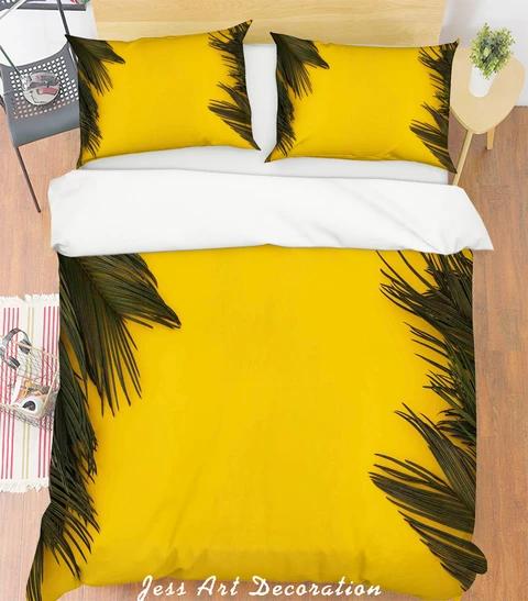 1 3d Yellow Leaves Quilt Cover Set Bedding Set Pillowcases 137 Jessartdecoration Duvet Cover Pattern Purple Duvet Cover Bedding Sets