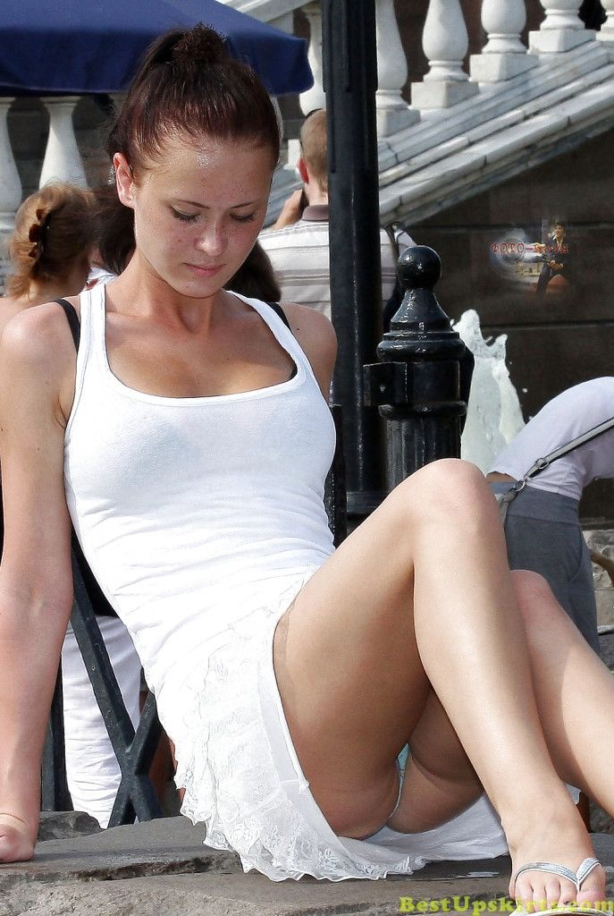 Upskirt fat whites