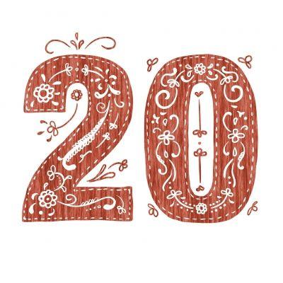 Happy 20th Birthday Card By Mikael Bistrom