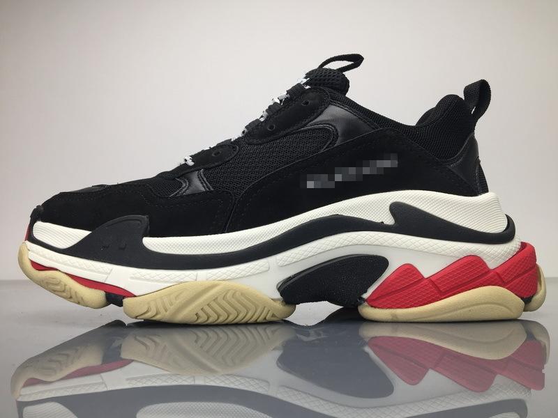 P380 黑红 复古运动鞋 Triple S