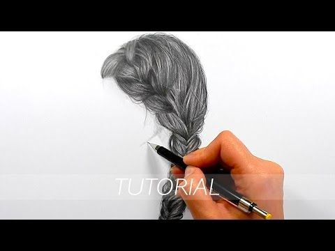 Tutorial How To Draw Realistic Hair With Graphite Pencils Emmy Kalia How To Draw Hair Drawing Hair Tutorial Realistic Drawings
