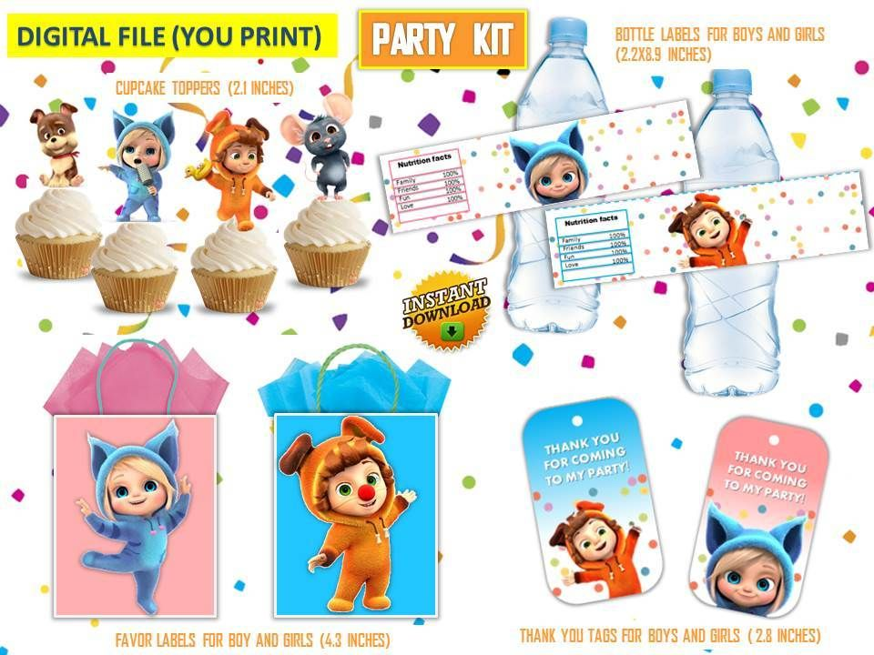foto de Dave and Ava party kit dave and ava toppers dave and ava