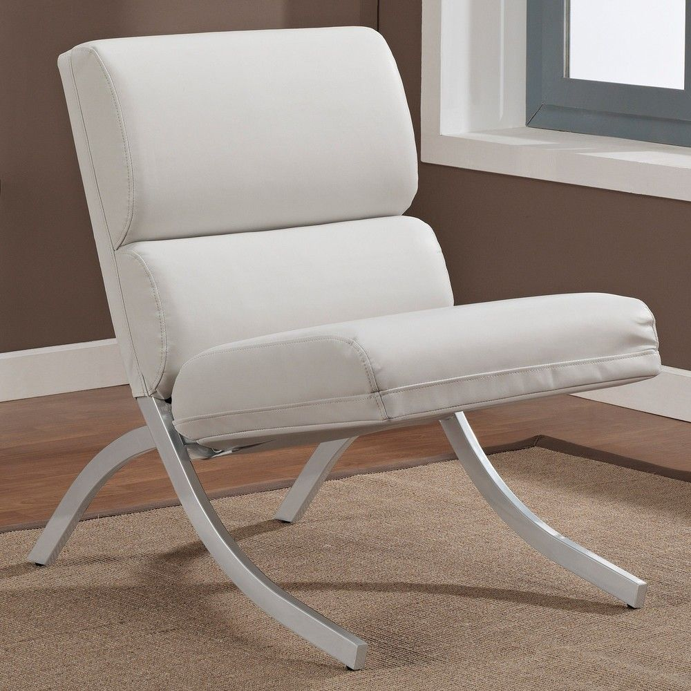 Superieur $152 Rialto Bonded Leather White Chair | Overstock.com Shopping   Great  Deals On Living Room Chairs