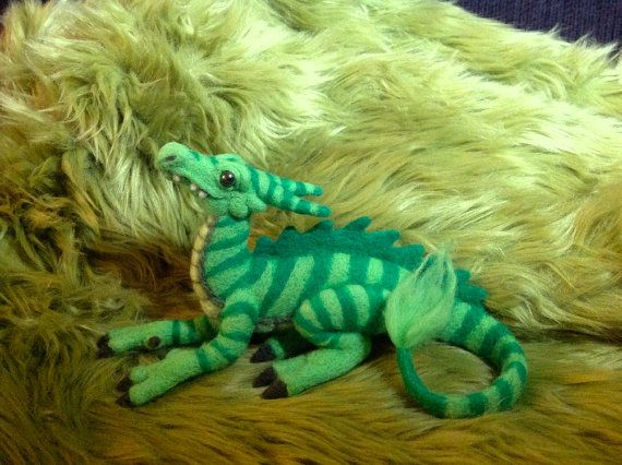 Items similar to Small needle felted dragon on Etsy