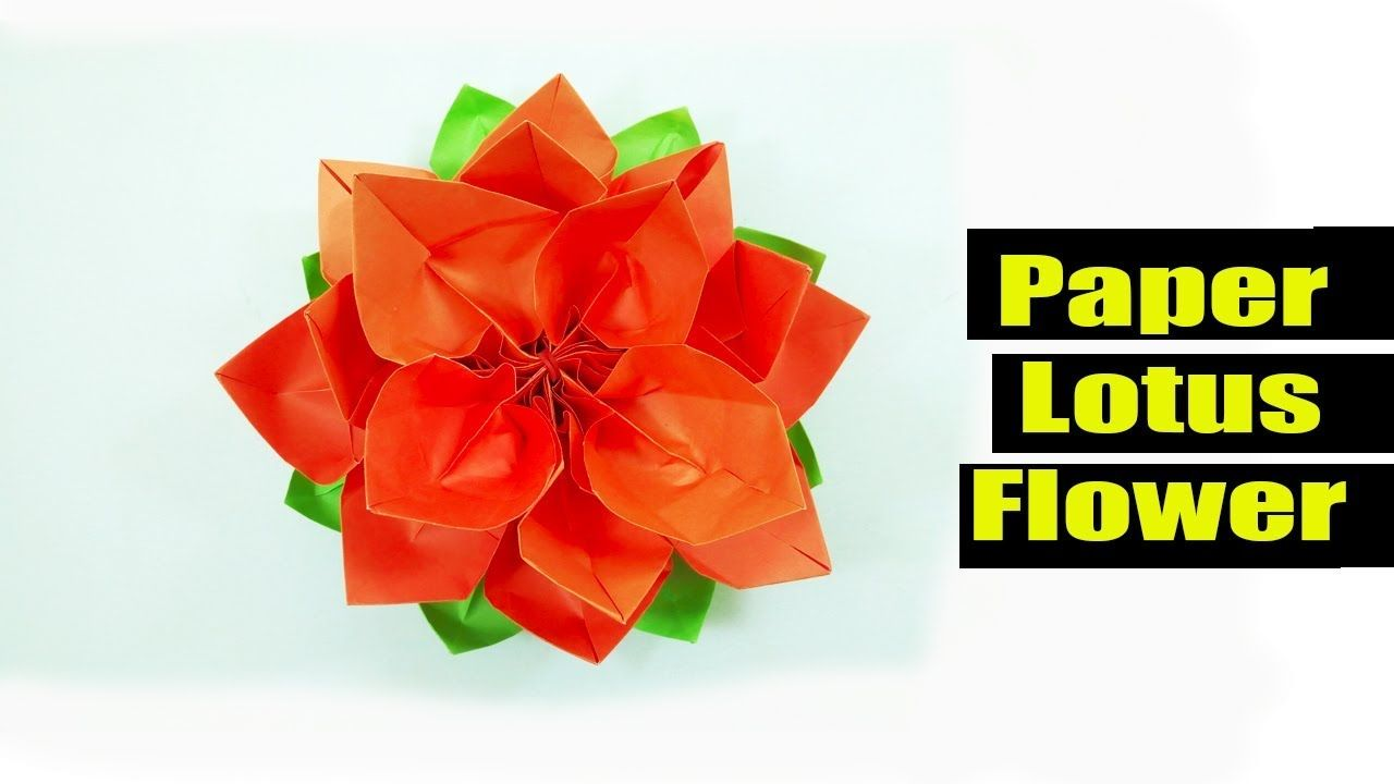 How to make a lotus flower out of paper vaydileforic how to make a lotus flower out of paper easy and simple way to make paper lotus flower mightylinksfo
