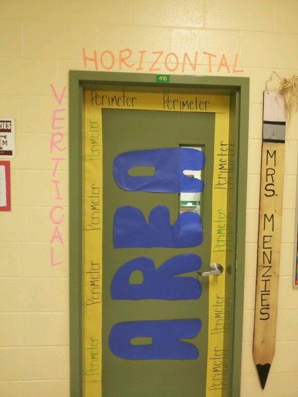 My Door This Year School Math Classroom Math Classroom
