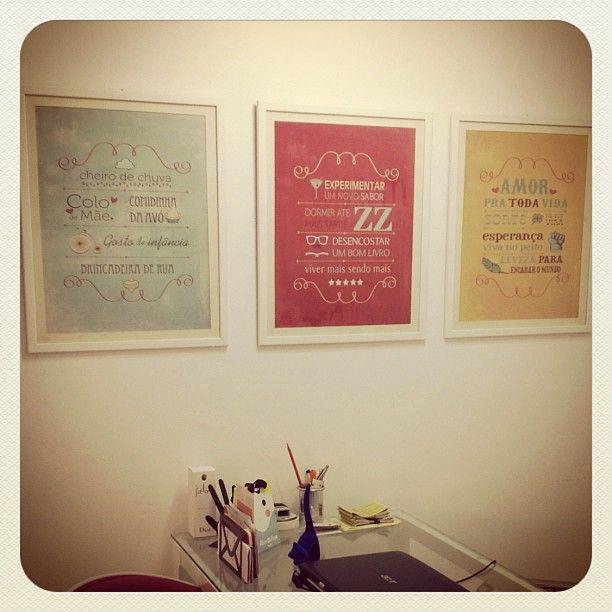 Posters Poética do Tempo + For the home + Loja Mosaico de Ideias - Instagram photo by @mosaicodeideias