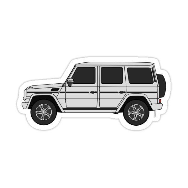European Truck 4x4 White Sticker By Mandalapics In 2021 G Wagon Volkswagen Routan Jaguar Xk