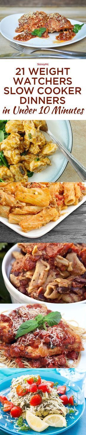 Weight Watchers Dinners in Under 10 Minutes Quick and easy Weight Watchers dinners without breaking your point budget!Quick and easy Weight Watchers dinners without breaking your point budget!