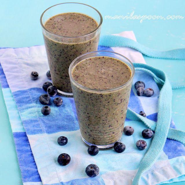 Manila Spoon: Blueberry Green Smoothie