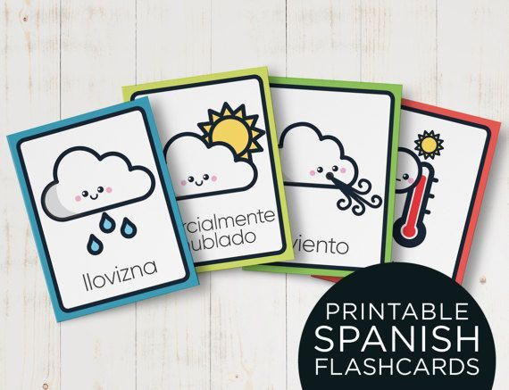 Weather in Spanish flashcards