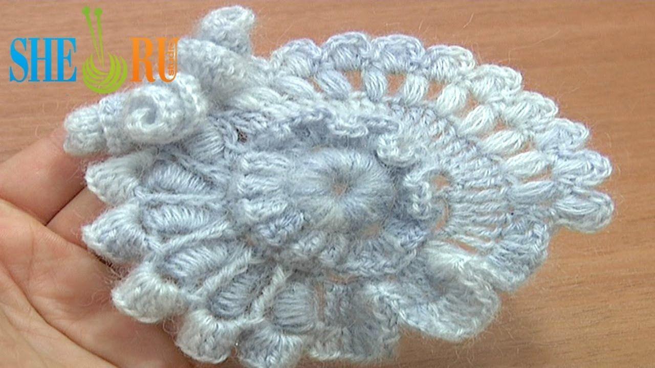 Crochet Freeform Flower Tutorial 2 ~ Part 2 of 2 Scrumbling Freeform ...