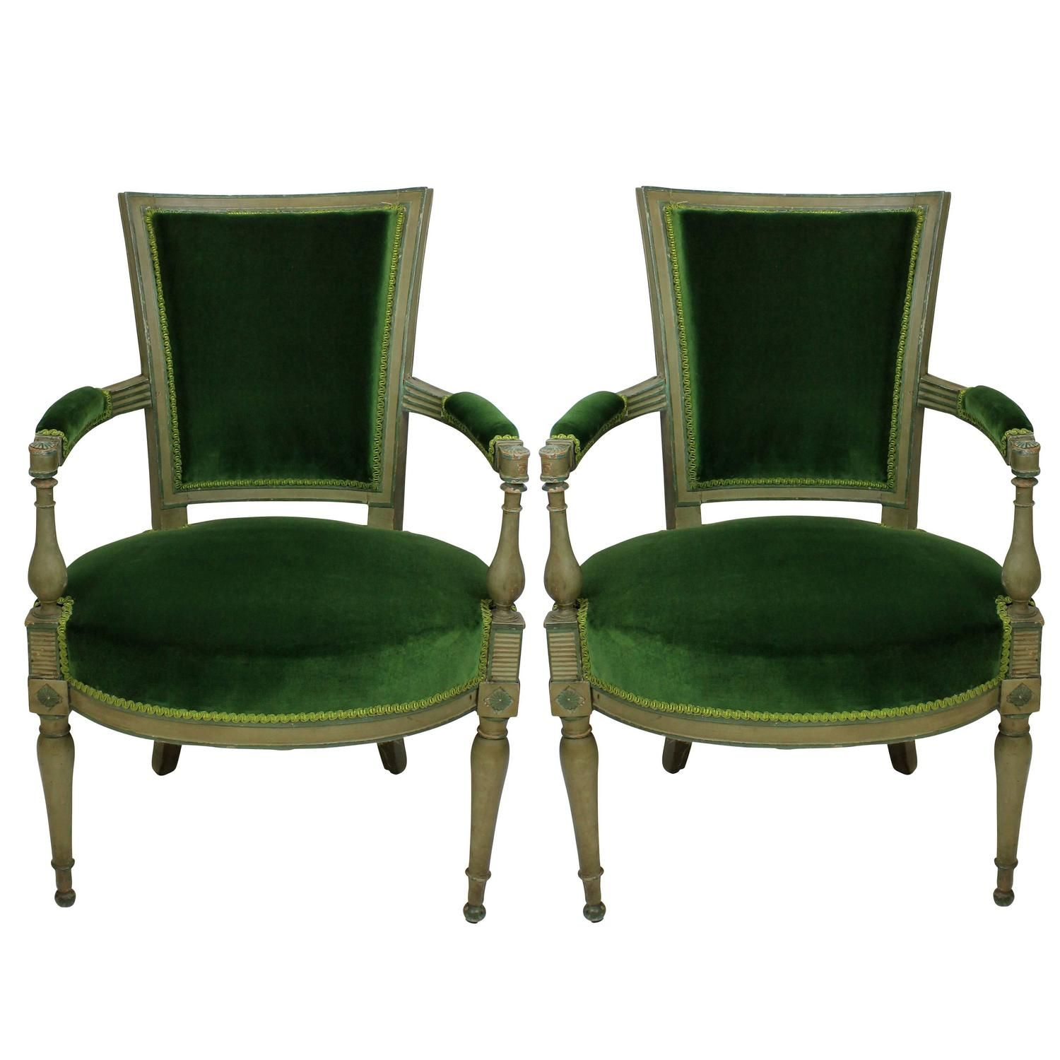 Pair of 18th Century Russian Armchairs  | From a unique collection of antique and modern armchairs at https://www.1stdibs.com/furniture/seating/armchairs/