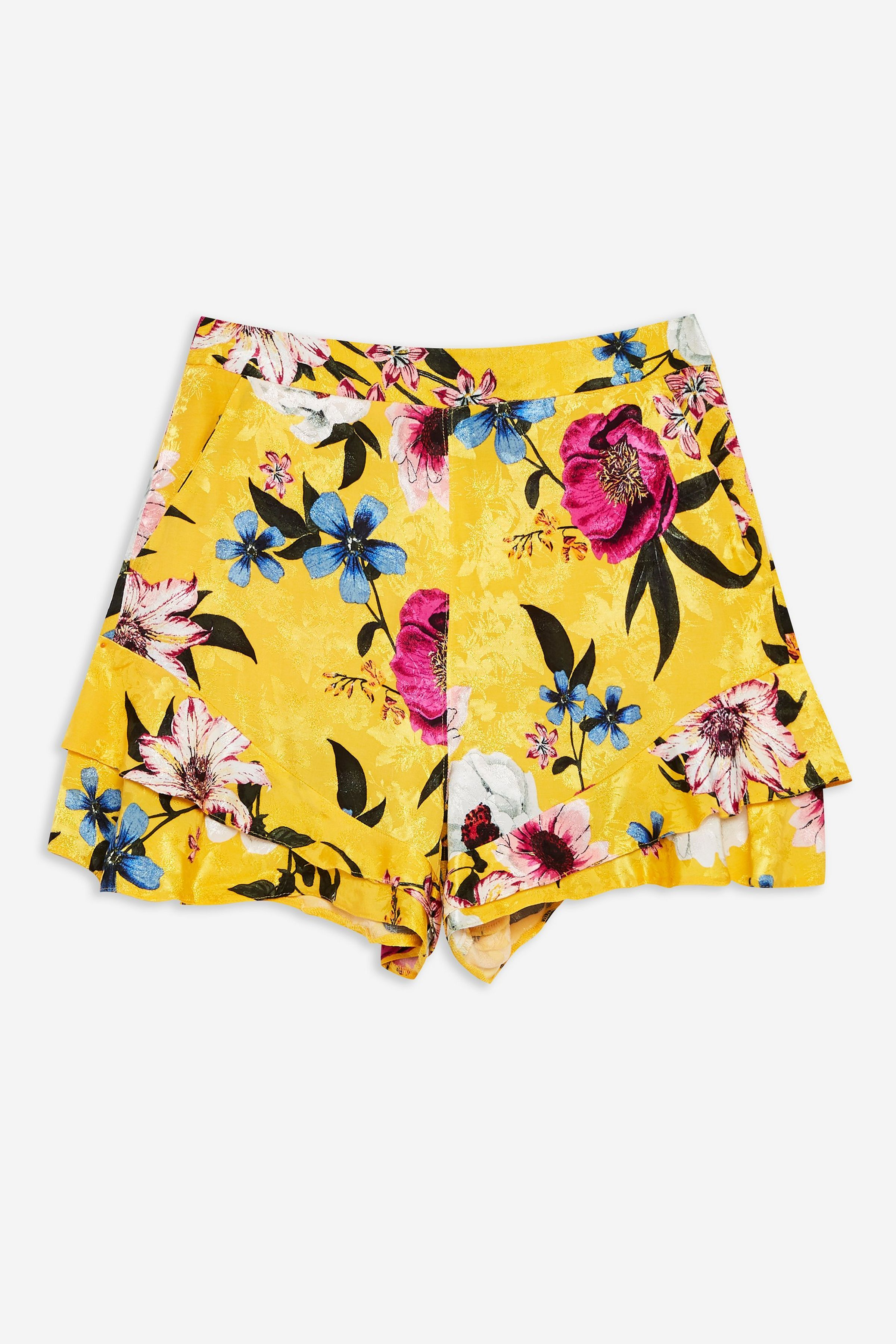 fed320cab5 Yellow Floral Shorts in 2019 | JRC IN-STORE 2019 | Floral shorts ...